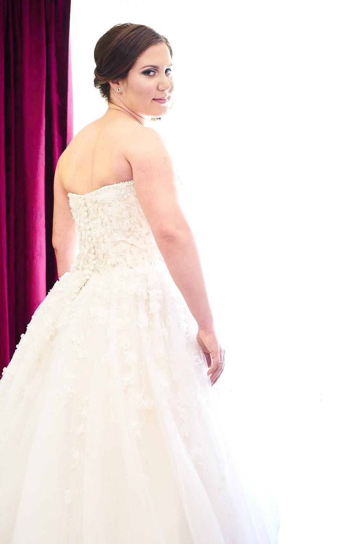 wedding dress window