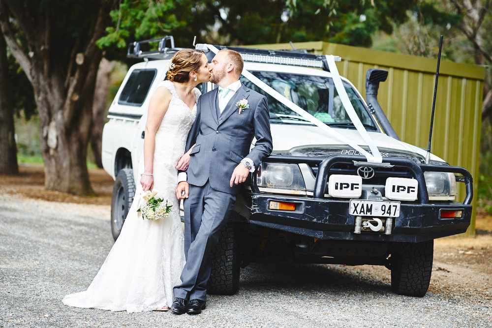 toyota hilux wedding car