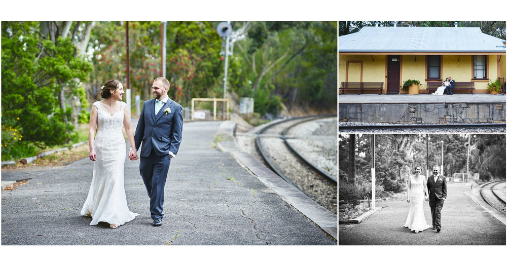 old belair train station wedding