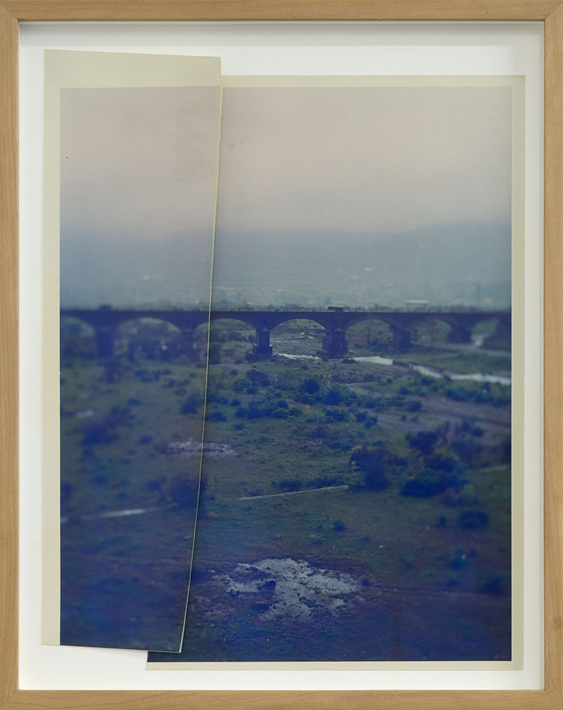 Bridge Over Riverbed   5/8   C Print from negative  Cut in two   25 x 32 cm   2018
