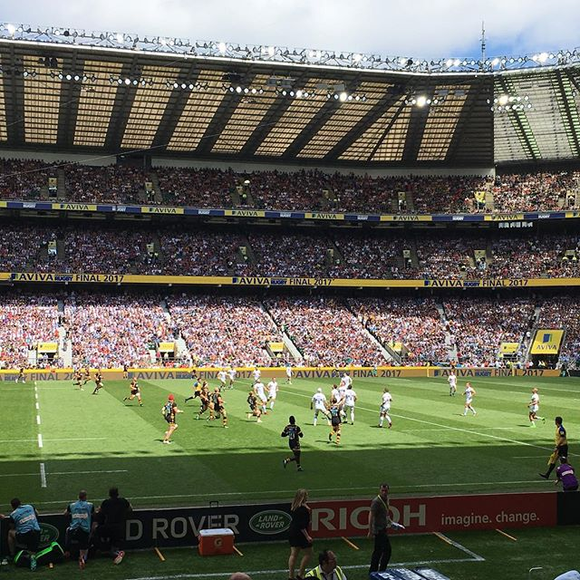 Fantastic match between @officialexeterchiefs and @waspsrugby on Saturday. Ricoh bringing change in rugby to life. #imaginechange #ricoh #avivapremfinal #avivapremiership