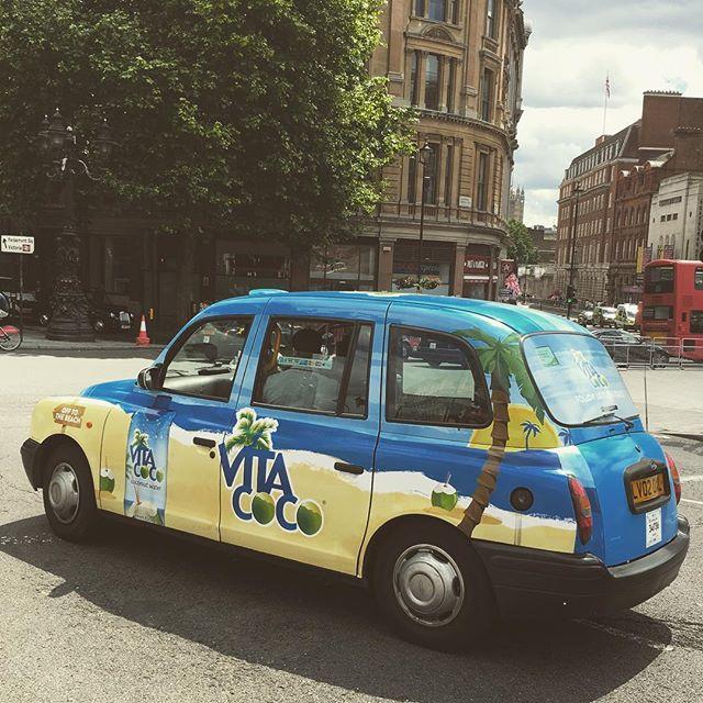 One of our Vita Coco taxis spotted in Trafalgar Square #vitacoco #reachforthebeach