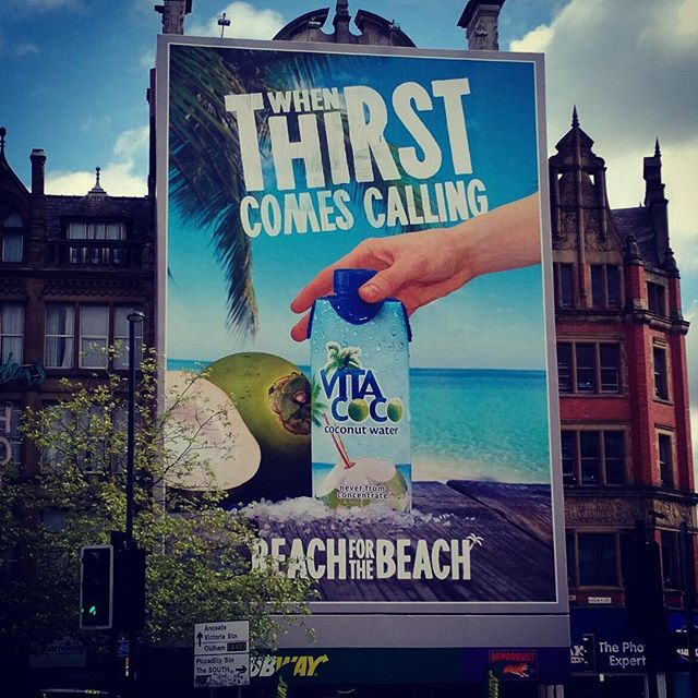 Our Vita Coco billboard looking great in Manchester #vitacoco #reachforthebeach