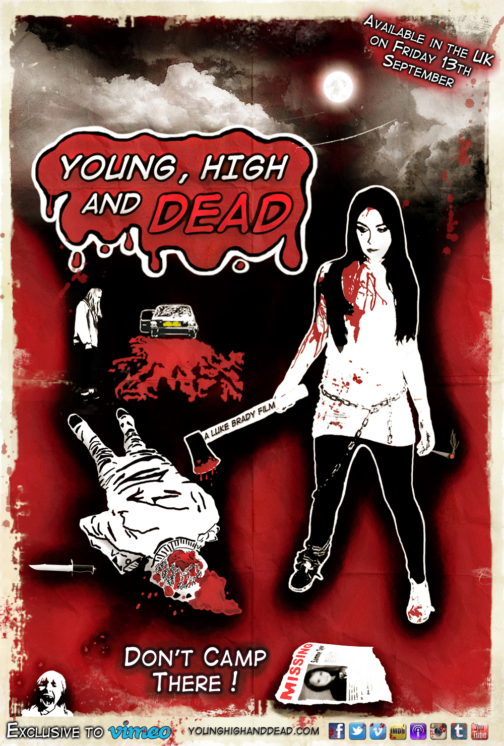 OLD YOUNG HIGH AND DEAD POSTER