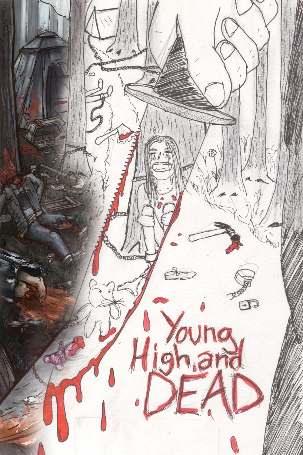 Brand new Young High and Dead Poster for 2015 - designed by Luke B