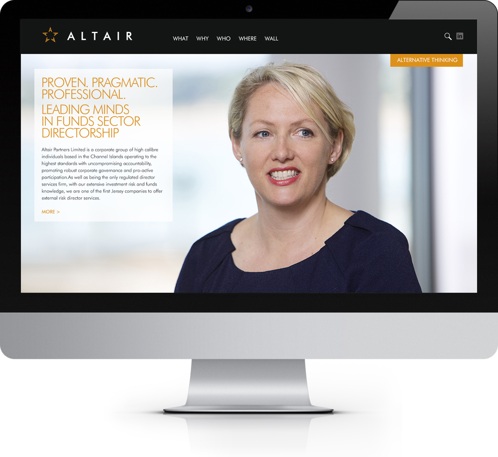 Altair.  Brand identity creation.