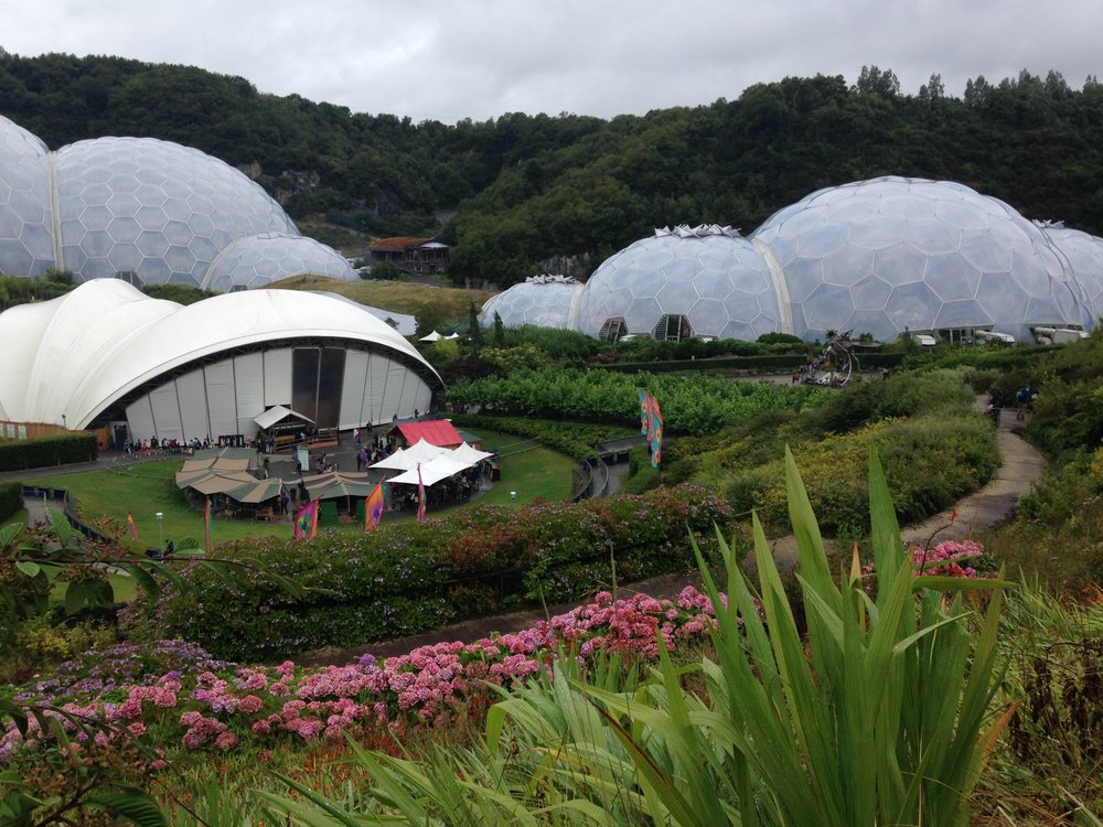 Biomes at The Eden Project Cornwall