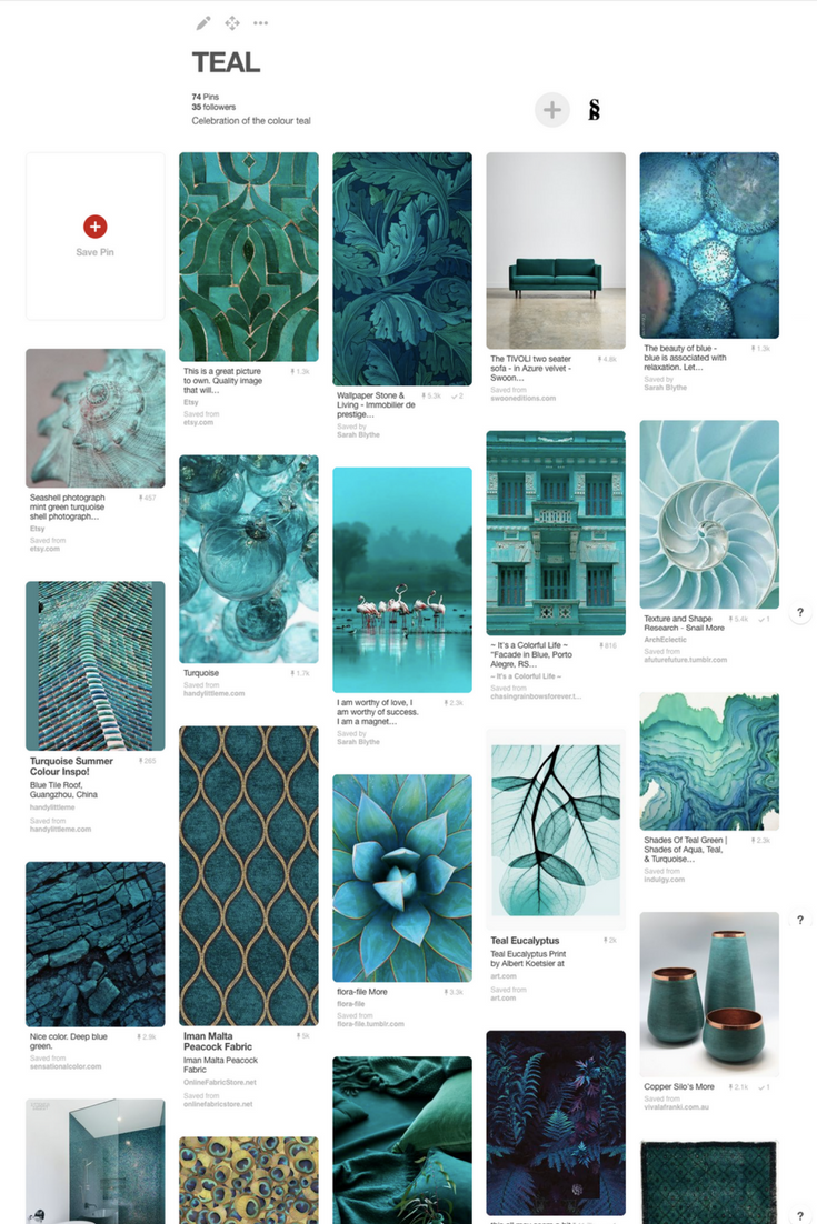 the colour teal_pinterest