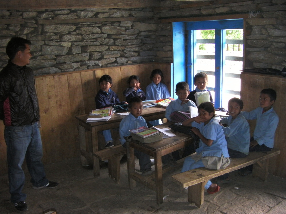 School classroom & students