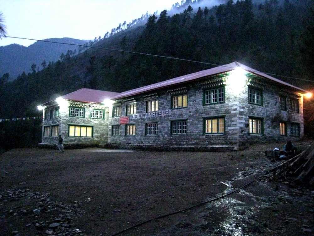 Lodge on the walk to Everest Base Camp, near  Phakding.