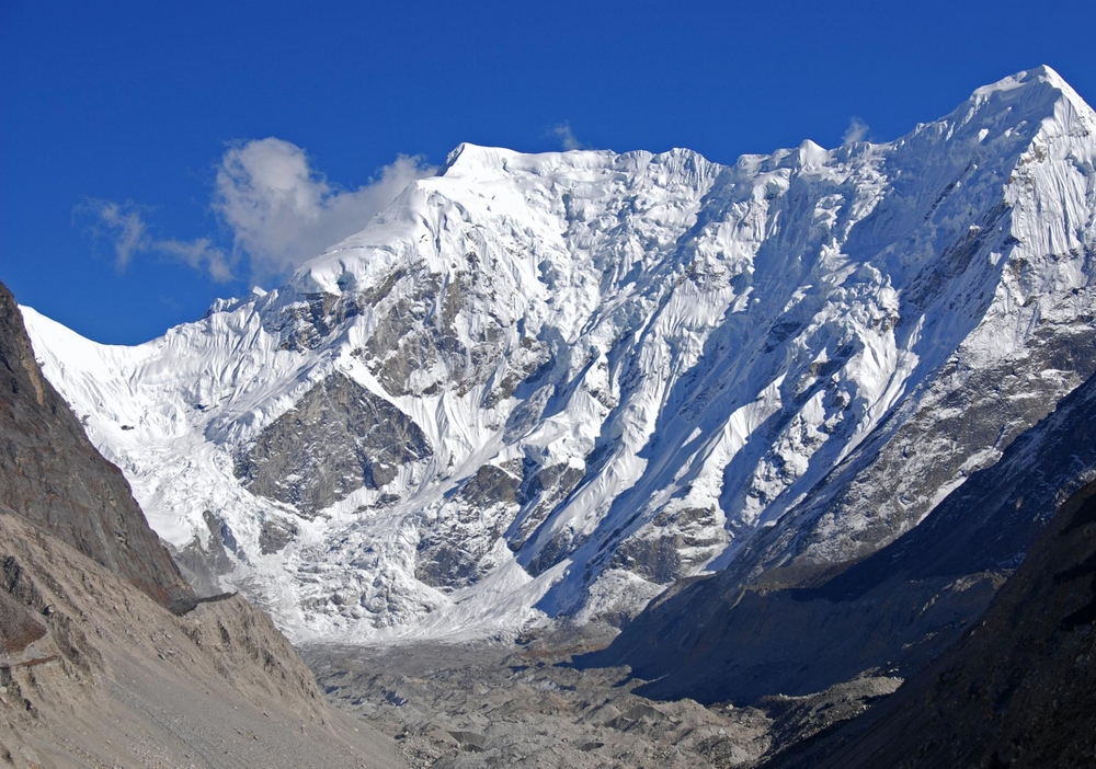 Head of Rolwaling Valley with Bigphera Go Shar and Trakarding glacier