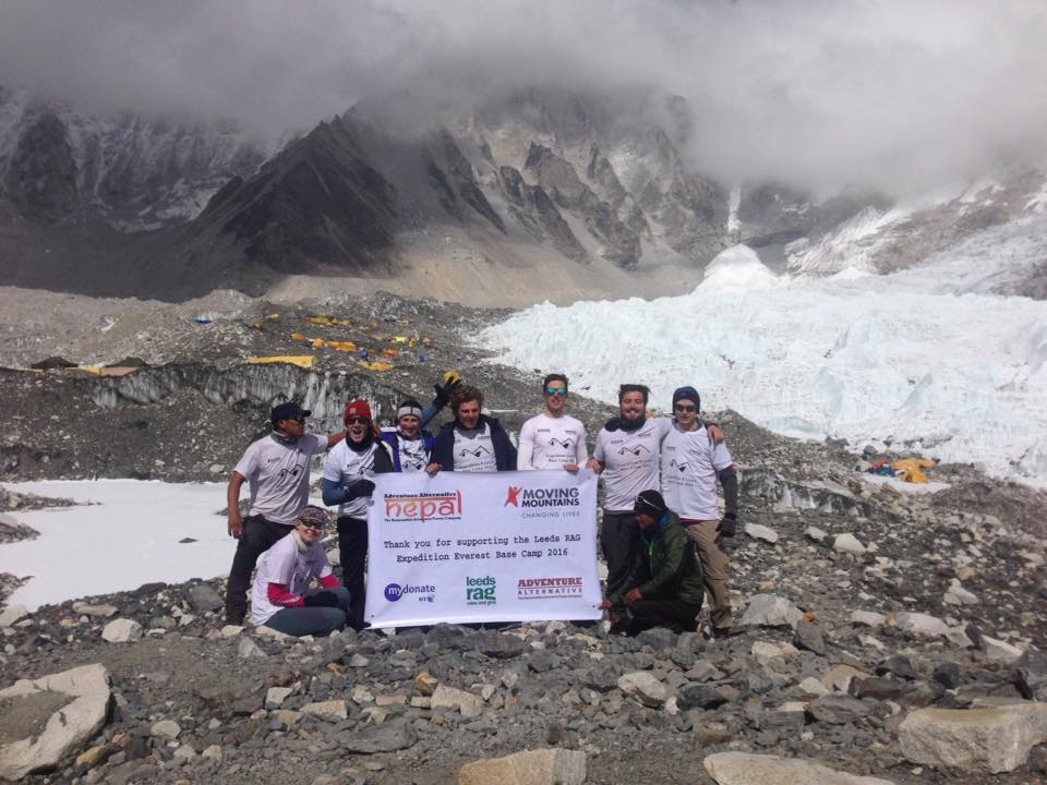 Group picture at Everest Base Camp