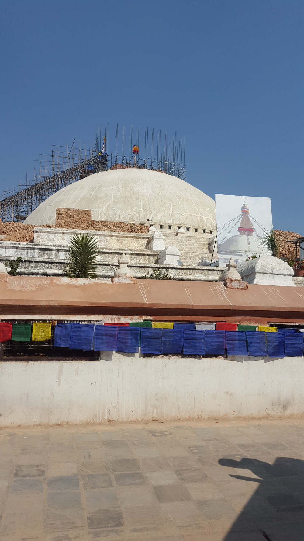 The Stua of Bouddhanath being rebuilt