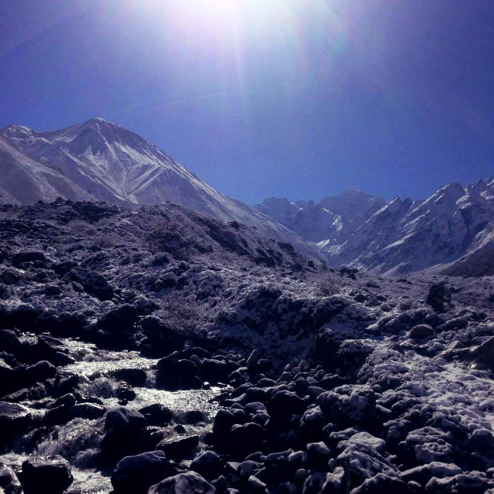 The sun is shining - Langtang Valley Trek