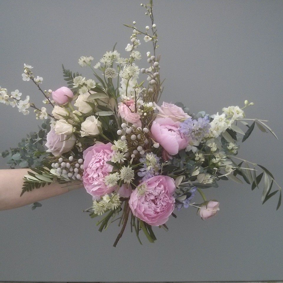 Natural bouquet with peonies