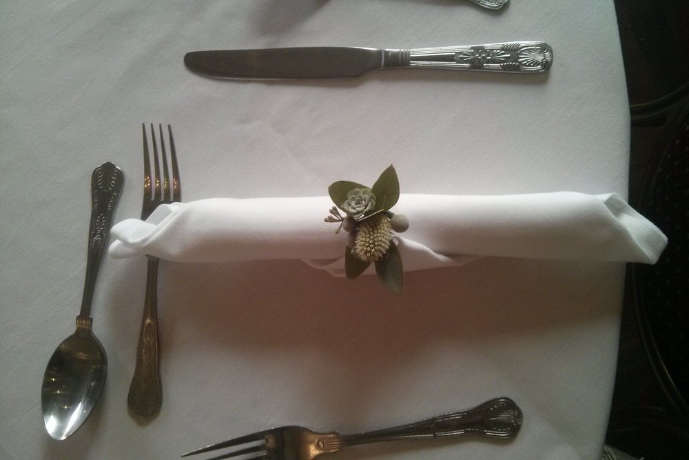 wildflower wedding succulent napkin ring
