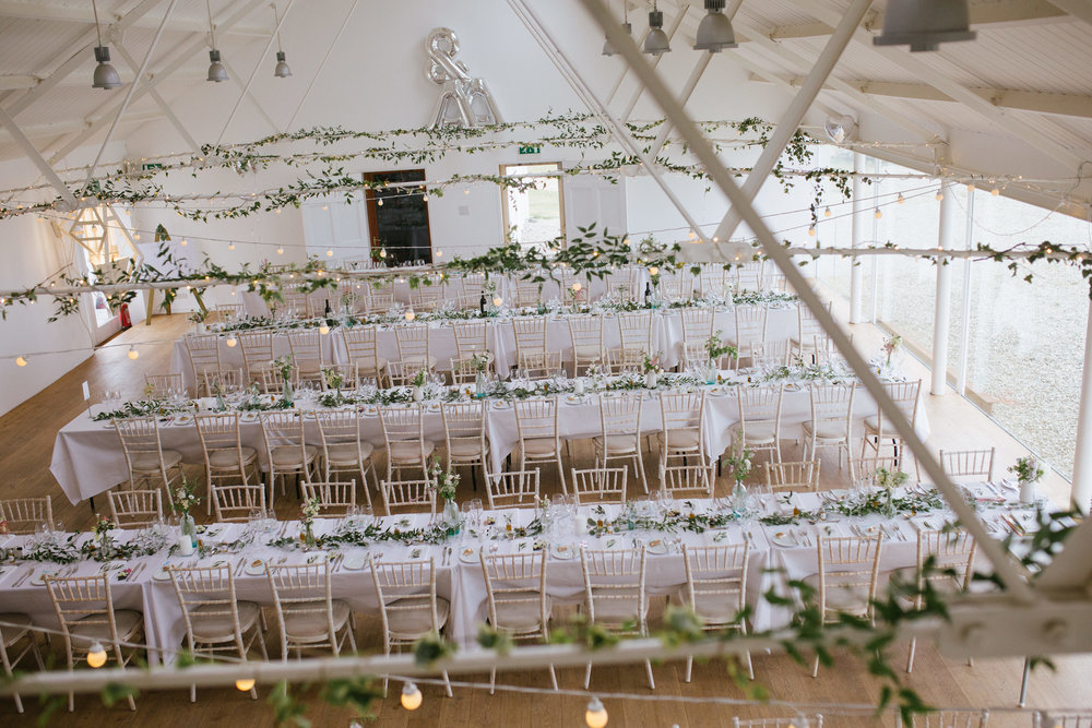 Wild flower foliage decor at Crear. Photo by  Emma Case Photography
