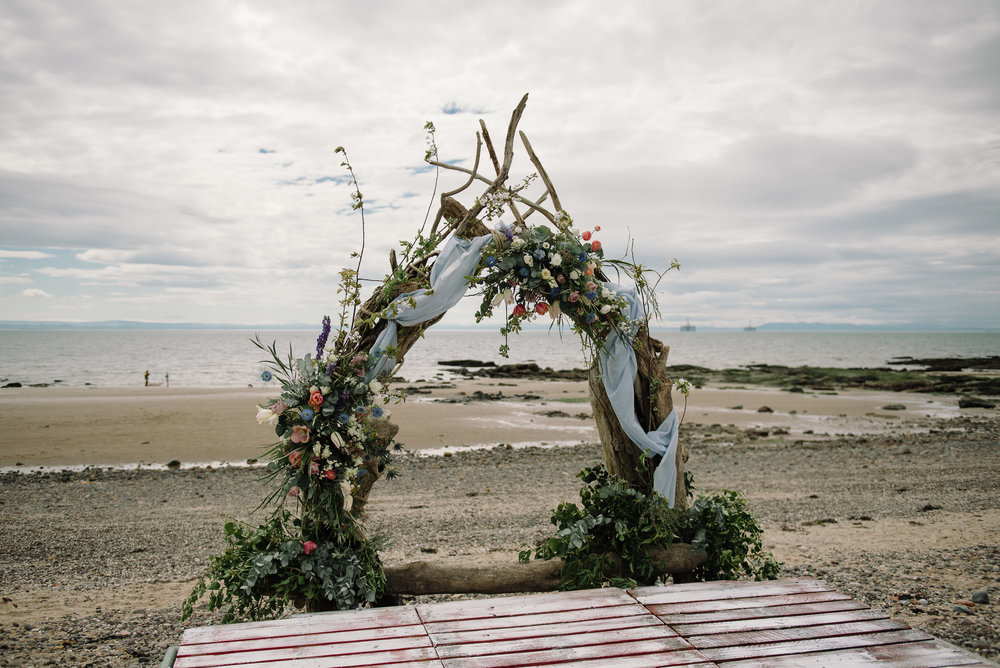 Photo by Rhiannon Neale Photography  Lower Largo Beach Arch