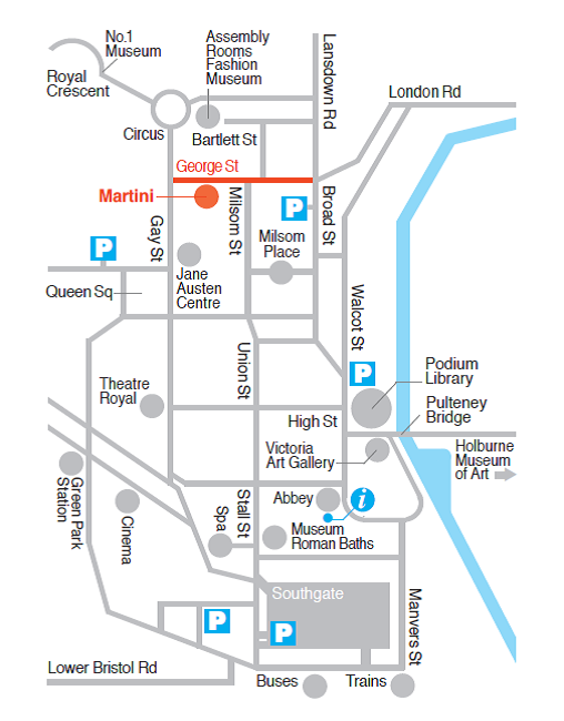 Martini Restaurant Map