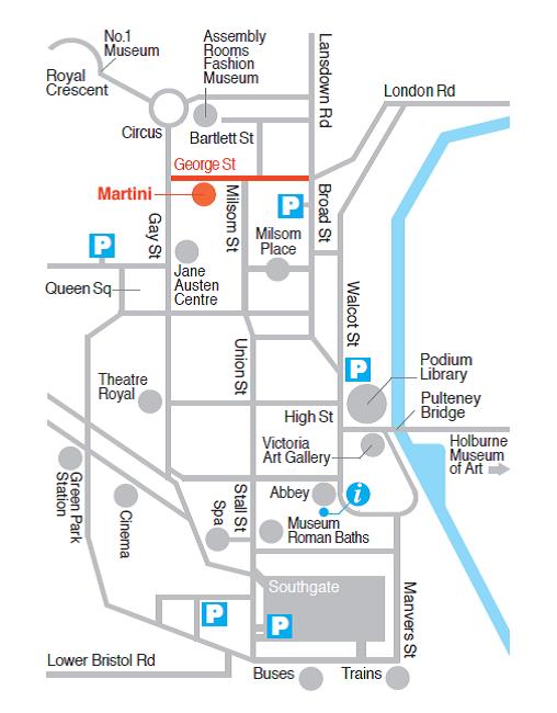 Martini Restaurant Map