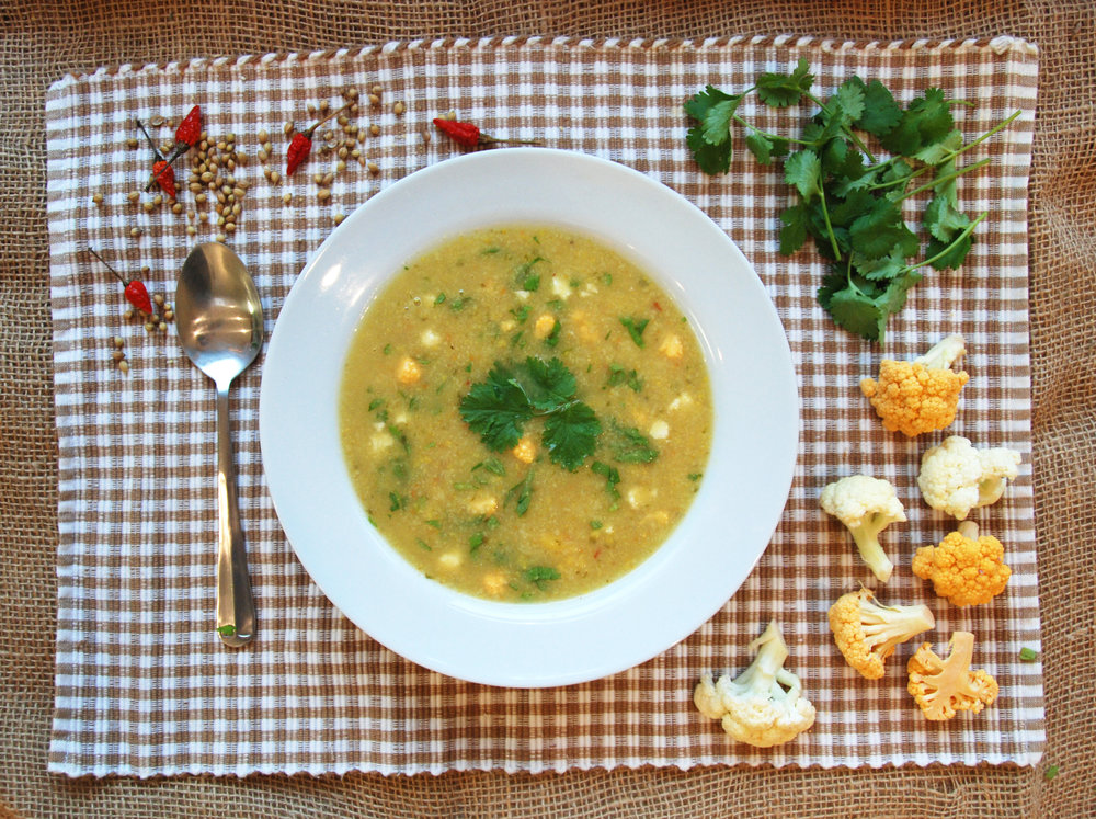 Coriander Cauliflower Soup