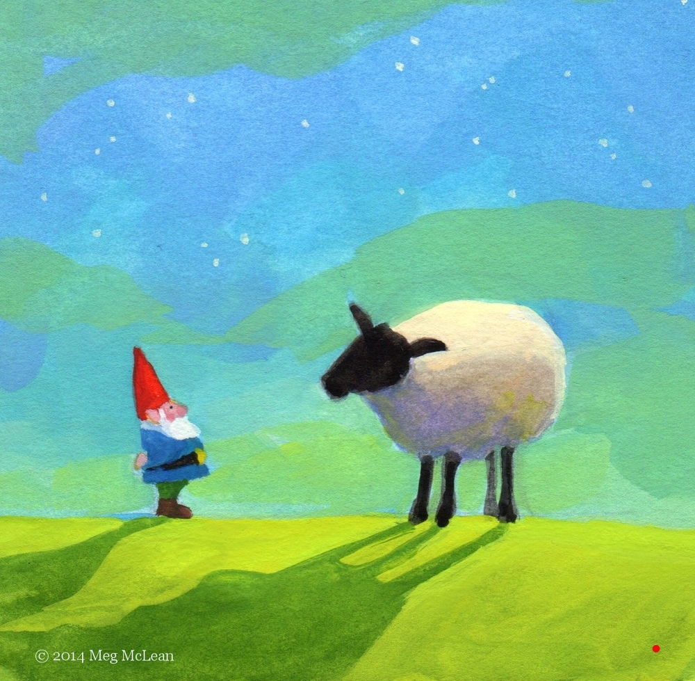 Meg McLean gnome time sheep