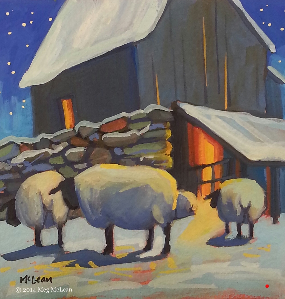 Meg McLean starlight sheep