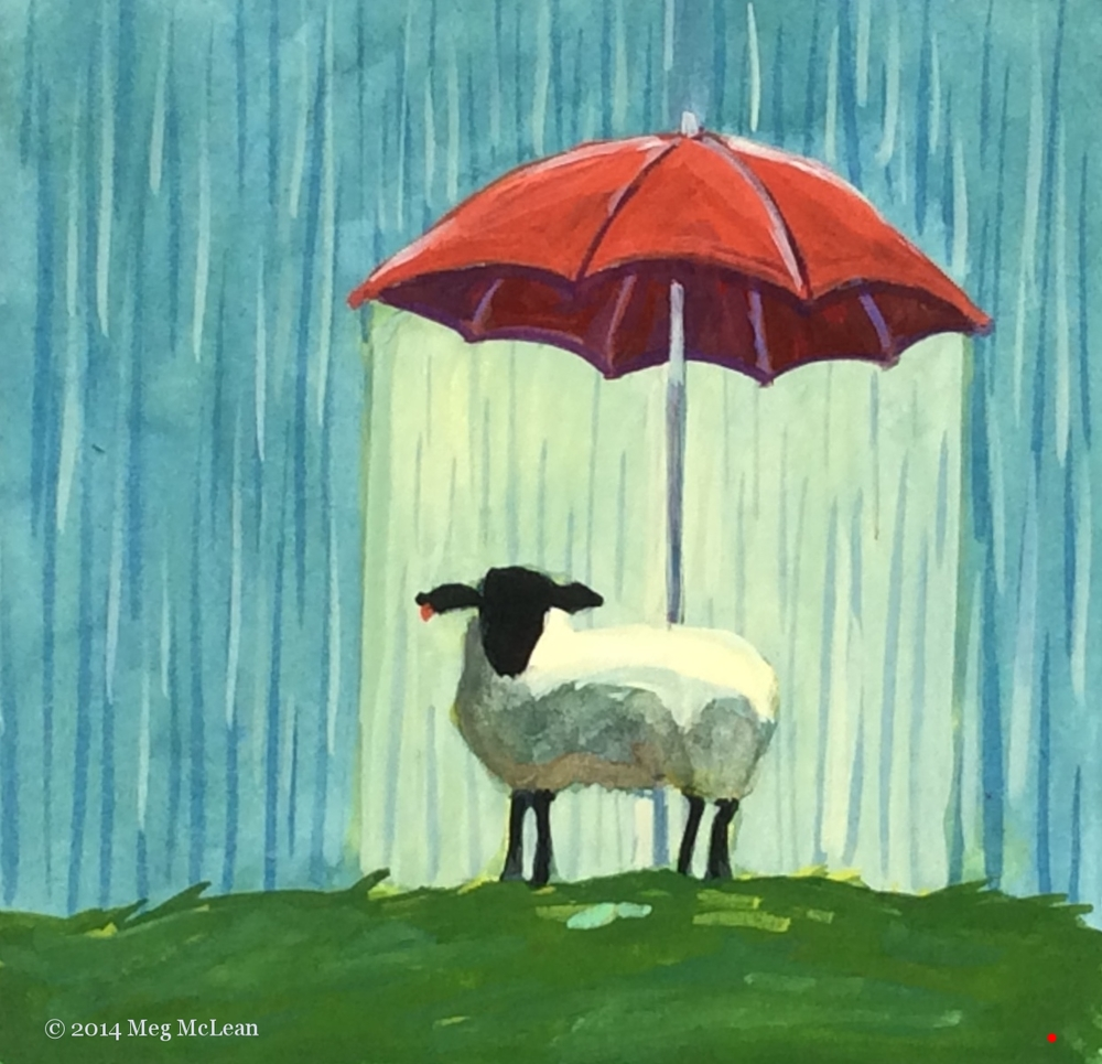 Meg McLean sheltered sheep