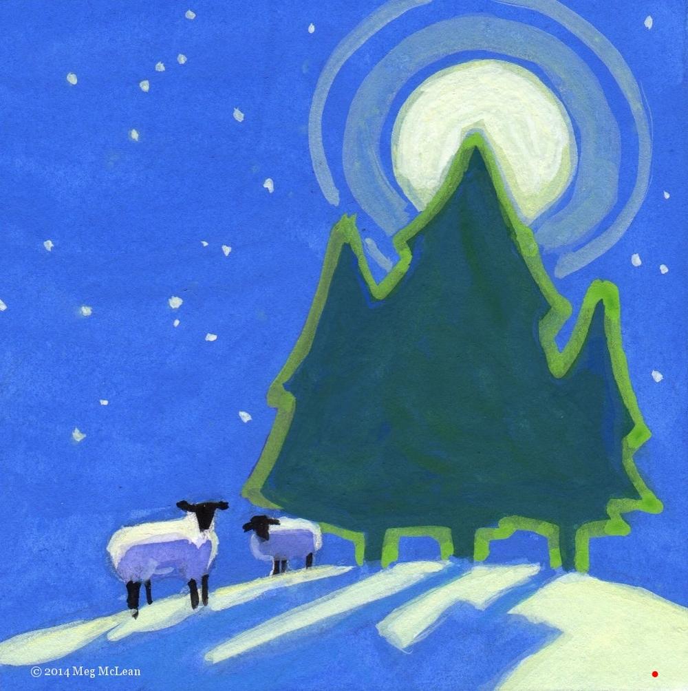 Meg McLean yuletide sheep