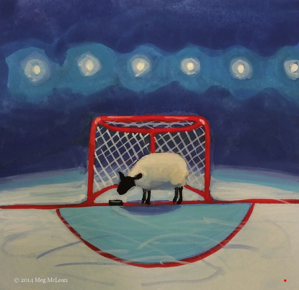 Meg McLean hockey sheep