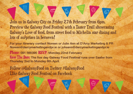Galway Food Festival Invite