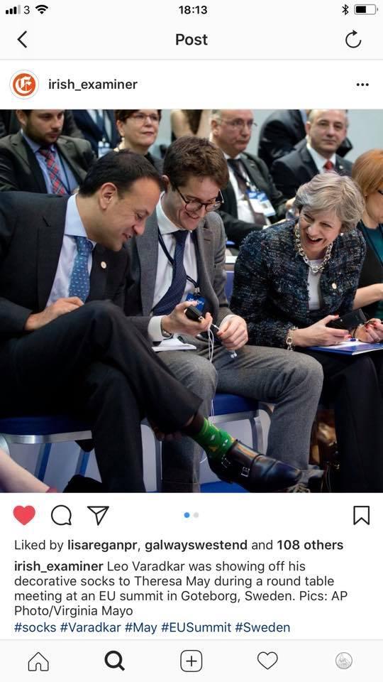 Even our own Taoiseach wears Socksciety socks... 'nuff said!