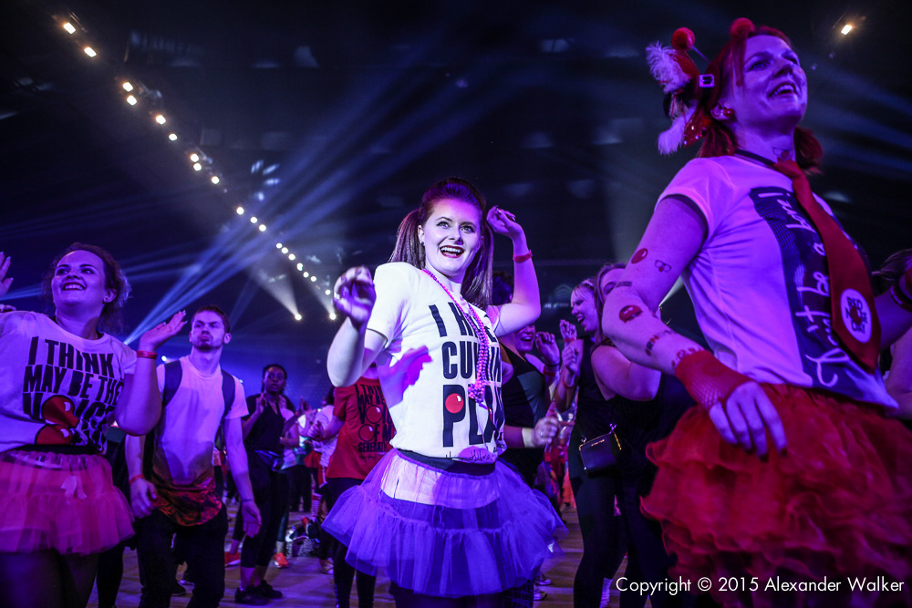 A host of celebrities danced the day away with host Claudia Winkleman and hundreds of hot footed fundraisers at the first ever Comic Relief Danceathon for Red Nose Day at The SSE Arena, Wembley.