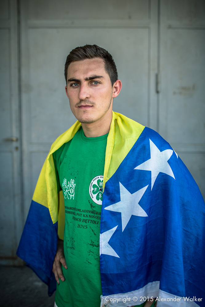 Bosnia Homeless World Cup team Training Srebrenica