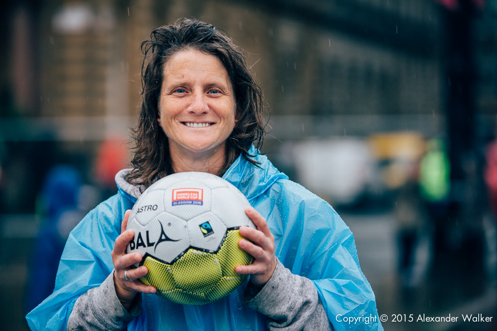 Danielle Williams from Team USA at the Homeless World Cup in Glasgow. The Homeless World Cup is a unique, pioneering social movement which uses football to inspire homeless people to change their own lives. Homeless World Cup 2016 is taking place in Glasgow's George Square from July 10th to July 16th. For more information, visit www.homelessworldcup.com