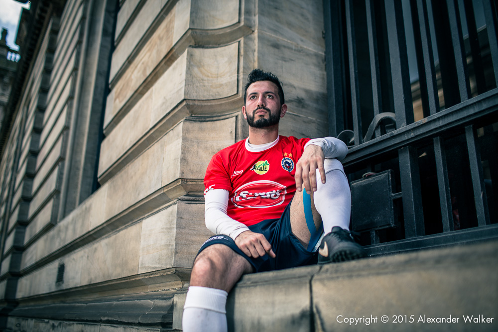 Matias from Team Chile. The Homeless World Cup is a unique, pioneering social movement which uses football to inspire homeless people to change their own lives. Homeless World Cup 2016 is taking place in Glasgow's George Square from July 10th to July 16th. For more information, visit www.homelessworldcup.com