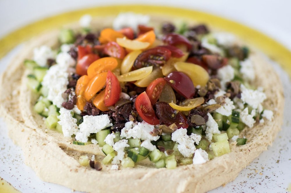 Middle Eastern Layer Dip w/ Hummus (client favorite)