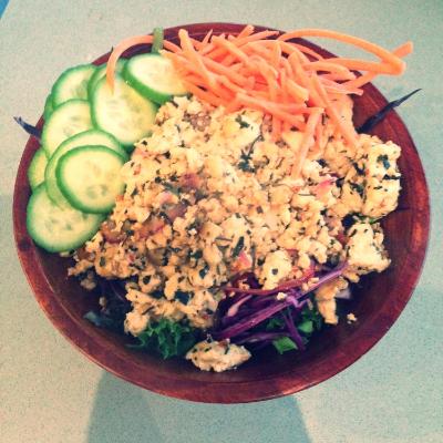 tofu larb salad