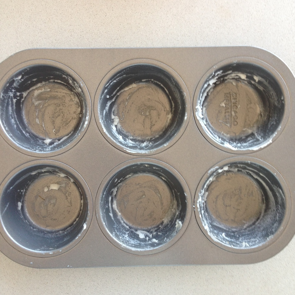 Grease muffin tin