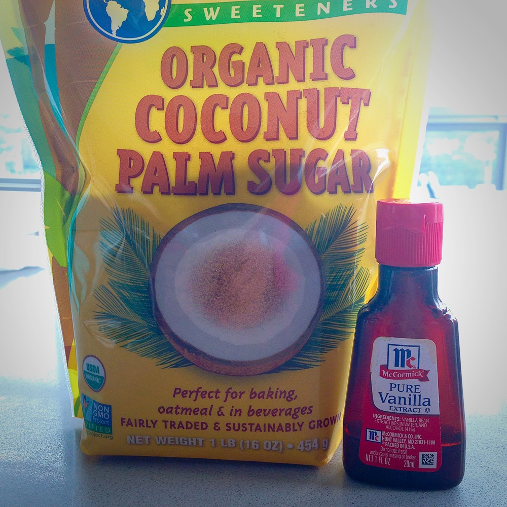 the enhancers: coconut sugar and vanilla