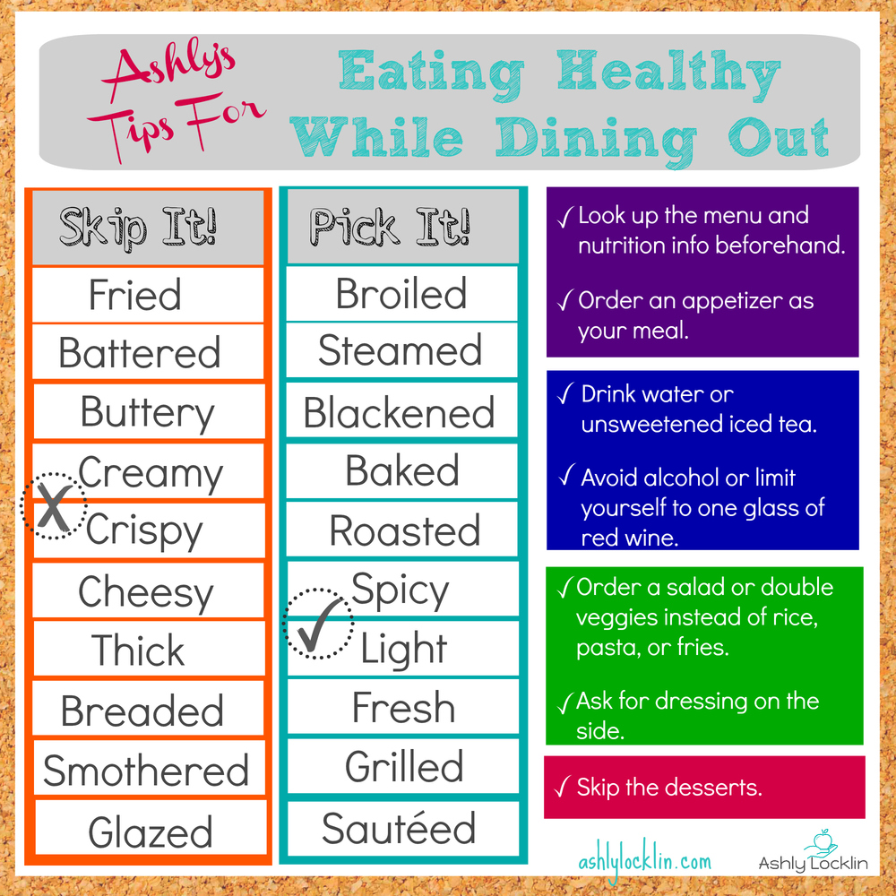 healthy eating tips ashly locklin tips for healthy while dining out 30626