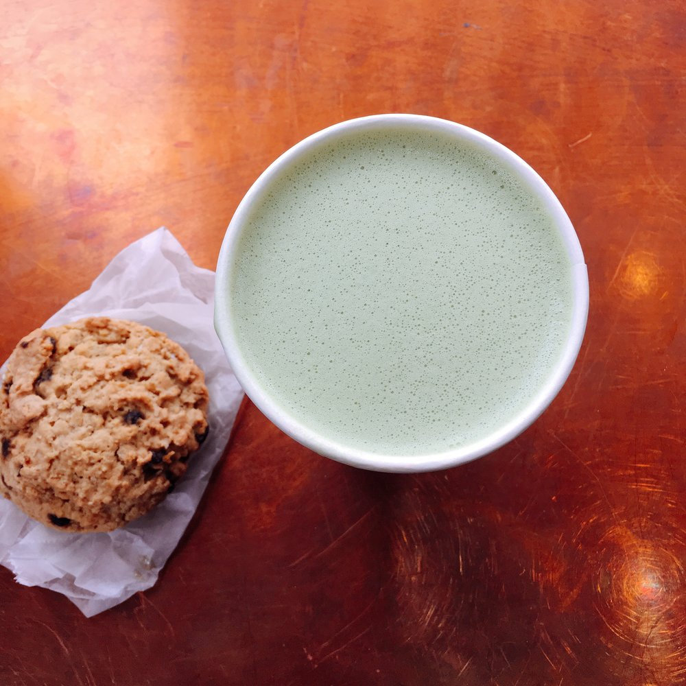 treat yo self x2 : Matcha Almond Latte & Cookie