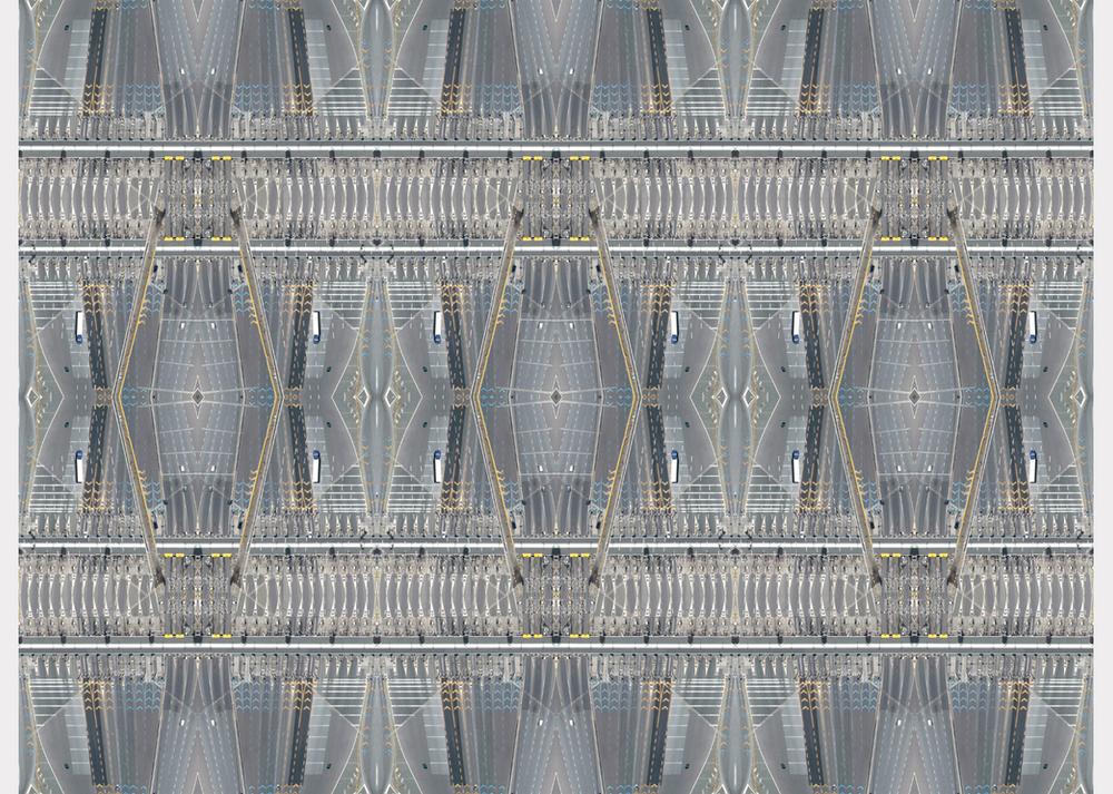 """Motorway madness"" - 100 cm x 135 cm"