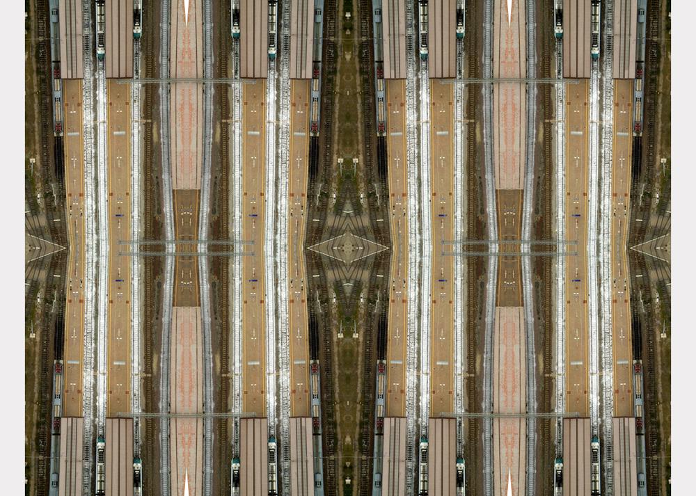 """""""Railway lines"""" - 100 cm x 130 cm"""