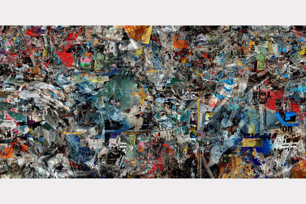 """Thinking in reverse"" - 100 cm x 200 cm"
