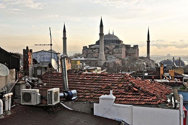 Over the rooftops of Istanbul, the Hagia Sophia was, as of 2014, the second-most visited museum in Turkey.⠀ -⠀ Built around 537 AD to be an eastern Orthodox church and was converted to a mosque in 1453. Over the centuries this structure has withstood conquering armies, earthquakes, vandalism and desecration, and resotration--the walls of this iconic landmark have so many stories to tell.⠀ -⠀ #photojournalist #photodoucumentary #reportagespotlight #ngostorytelling #ngo #ngophotographers #ngophotography #nonprofitorganization #nonprofitwork #thegreatcommission #greatcommission #communityservice #missions #seekhimfirst #folksouls #folklife #loveothers #takeachance #helpothers #loveothers #liveauthentic #travelturkey #exploreturkey #discoverturkey #visitturkey #landmarks #historiclandmarks #unescoworldheritagesite⠀ ⠀