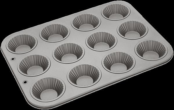 12 hole fluted bun pan