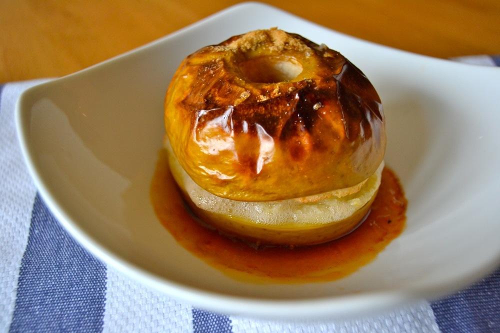 Oven baked apple