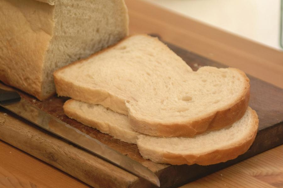 A chunky slice of white bread. (from Freefoto.com)