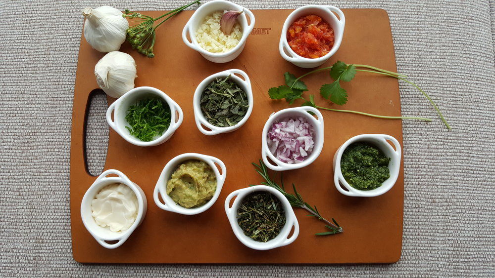 Herbs, Salsa, Guacamole, Mayo, Garlic and Onion in a matter of minutes.